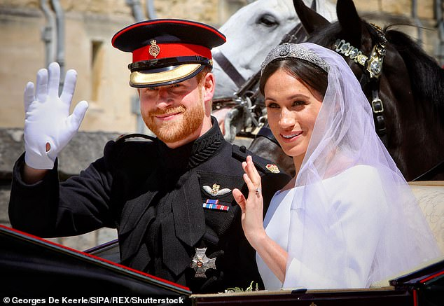 'Bare tunes': The star confirmed that it was Meghan herself who sent him a list of tunes she wanted at her big day - one of which was Whitney Houston's I Wanna Dance With Somebody
