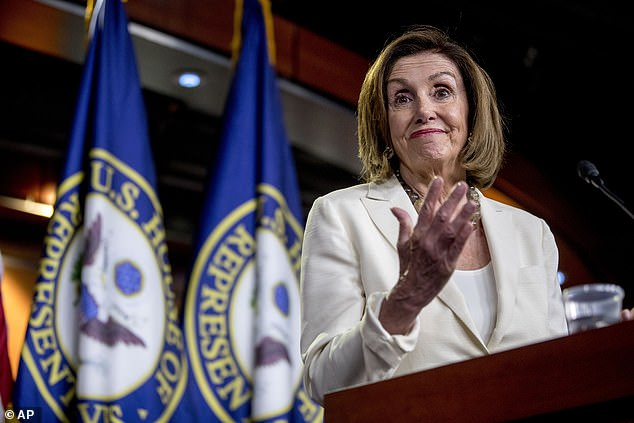 Pelosi said her comments to the Democrats were behind closed doors on Wednesday to defend her members