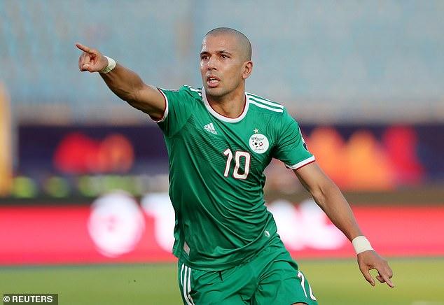 Former West Ham United midfielder Sofiane Feghouli put Algeria ahead after 20 minutes