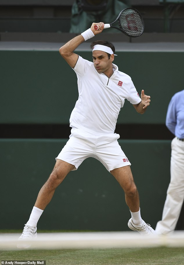 He once again overcame Nadal's serve early in the fourth set and closed out the contest 6-4