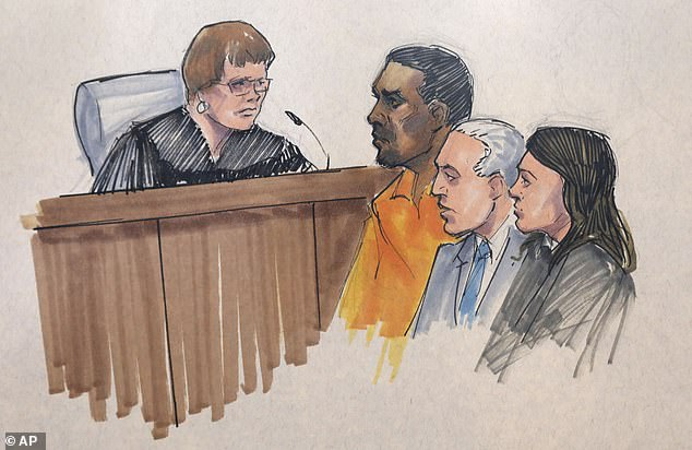 Do not pass go:R Kelly (above in a sketch from court on Friday) was denied bond on Tuesday at a bail hearing and entered a not guilty plea to charges in Illinois after being arraigned in federal court