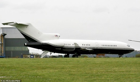 The 727-31 aircraft, tag number N908JE, has also been repainted on the outside from it's early silver and black color (pictured). Today it's all white with thin stripes