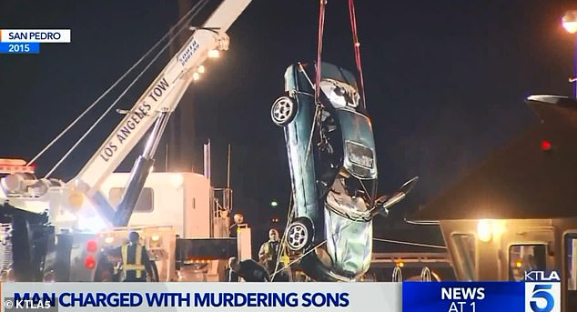 Prosecutors said Elmezayen purchased $6million in insurance policies to cover his family in the event of an accidental death. Investigators said he intentionally barreled off the edge of commercial fishing dock in San Pedro with his family inside the vehicle (pictured)
