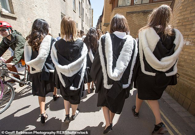 The number of rapes and sexual assaults at British universities has risen tenfold in four years with students at Cambridge (pictured) among the most accused (this is a stock photo)