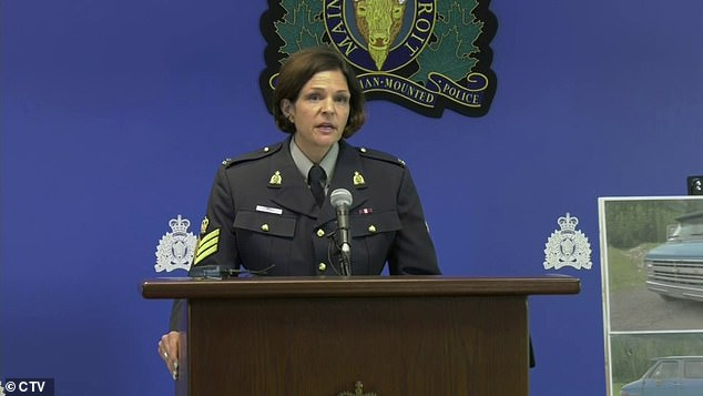 Sergeant Janelle Shoihet of the North Rock District police (pictured) said the police were called to the area of the Alaska Highway at 7 am local time