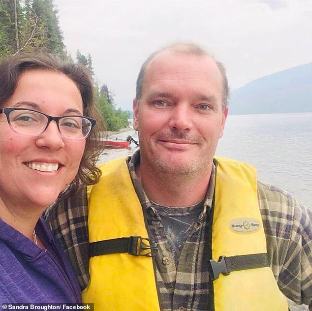 The last people to talk to Mr. Fowler and Mrs. Deese seem to be Sandra and Curtis Broughton (pictured), a Canadian couple who said they were passing, they saw the blue truck knocked down and stopped to help