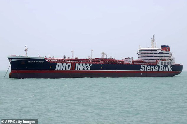 The Stena Impero oil tanker was seized by Iranian authorities while passing through the Strait of Hormuz yesterday.An image released by a Government-funded Iranian news outlet claims to show the seized British tanker Stena Impero anchored in southern Iran