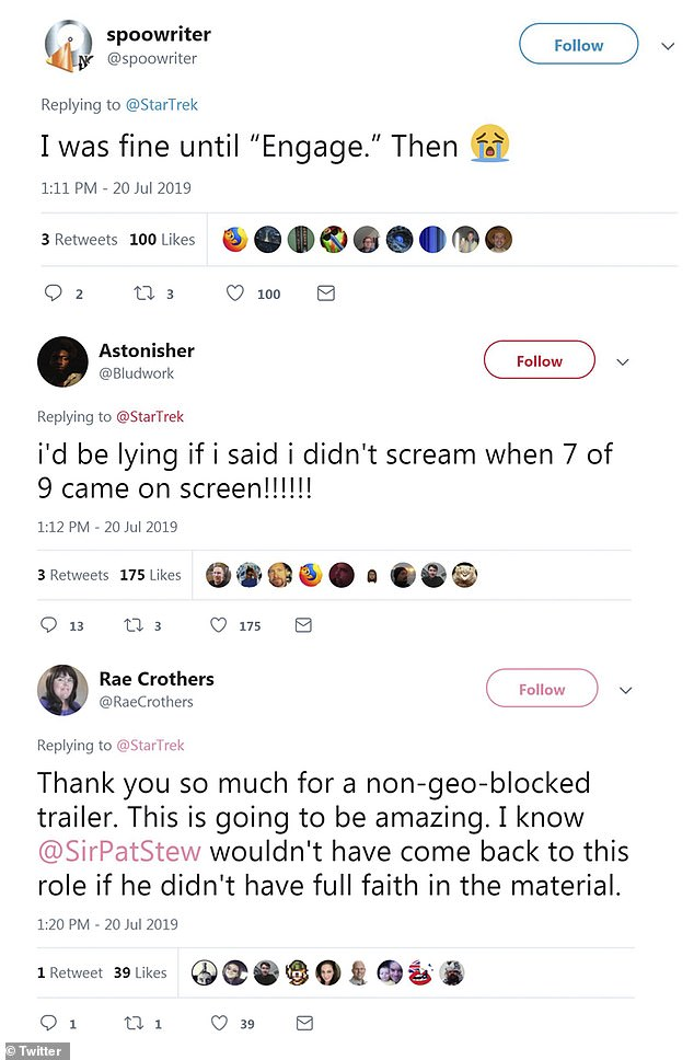 Reactions:Plenty of fans piped in to share their thoughts on the trailer - many of them emotional