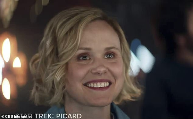 Fresh face: Viewers got a glimpse of new cast member Alison Pill