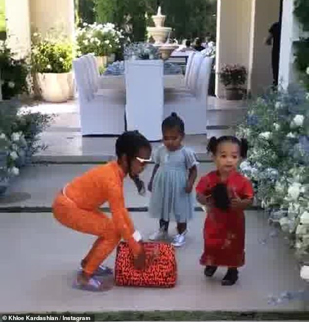 The cutest: But despite the day being all about the real sovereignty of the family, the Kardashian kids who stole the show
