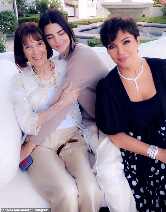 Laptops: Kris Jenner, 63, celebrated her mother, along with daughter Kendall Jenner, 23