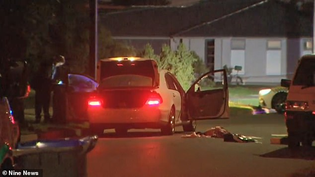 The woman's body was found inside the white Mercedes sedan parked on Kidman Avenue, at Kidman Park, in Adelaide's western suburbs, about 11.30pm on Sunday
