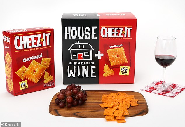 Perfect combination: The Cheez-It and wine box sold for a limited time for $25