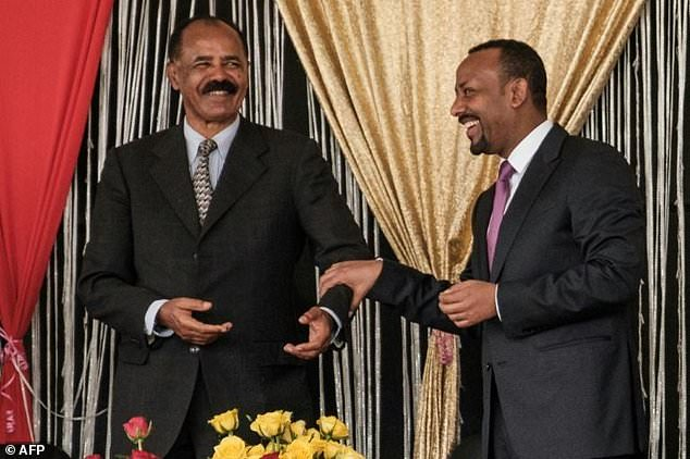 Eritrea's President Isaias Afwerki (L) and Ethiopia's Prime Minister Abiy Ahmed had made efforts to improve relations between the once-rival nations