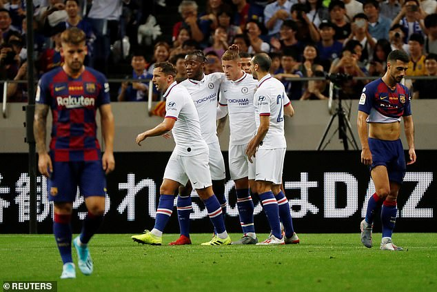 Chelsea ended their pre-season tour of Japan in style with a comfortable win over Barcelona