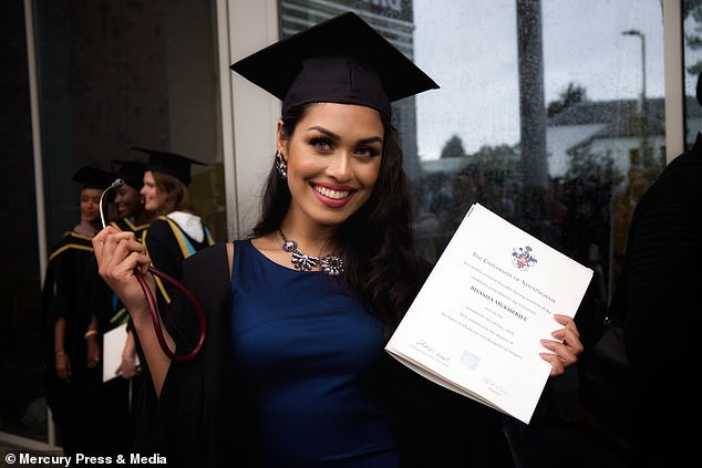 Bhasha holds a bachelor degree in medical sciences, and just weeks ago graduated with a second degree in medicine and surgery