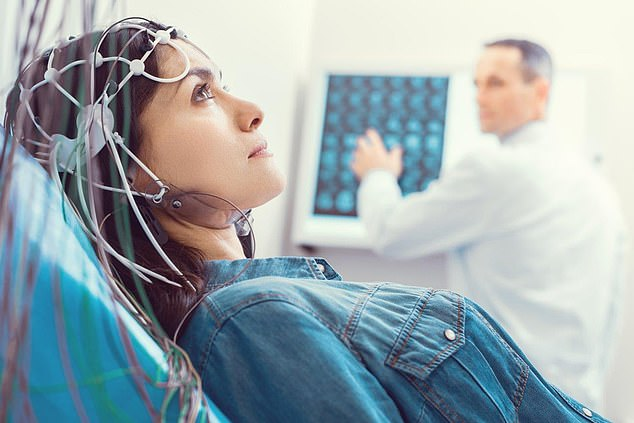 Participants had their pupils measured and their brain activity monitored via an electroencephalogram (EEG) (stock image)
