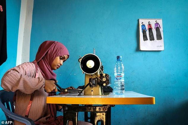 Hassan says her elder brother has been an investor, helping buy sewing machines and other equipment, but now the business is taking off