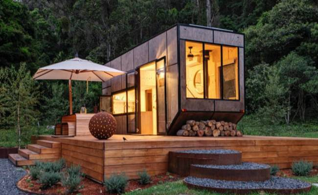 Hidden Outhouse Attached To An Isolated Cabin Completely