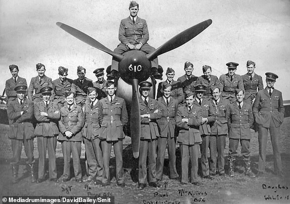Pictured:Squadron 610's fighter pilots, a unit which witnessed some of the most intensive aerial combat in the Second World War (taken at RAF Acklington, in Northumberland, between 17-19 September 1940)