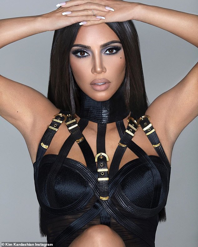 Is that you Kim?Kim posted a heavily doctored image of herself on Monday. The beauty, 38, was hardly recognizable with more even features and a thinner nose. Her 145M Instagram followers noticed right away as they asked 'Is that you?' and 'What happened to your face?'
