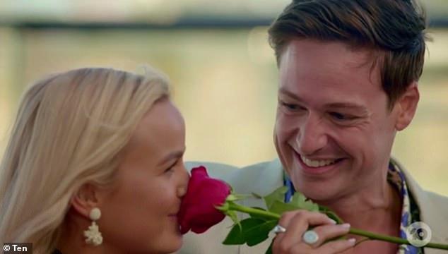 The Bachelor's Matt Agnew and nurse Elly Miles enjoy a passionate