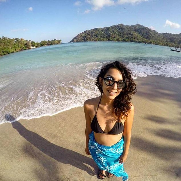Just ten days into her Australian holiday, Constanza 'Kuki' Escudero (pictured) was allegedly stabbed in the neck in broad daylight at Gecko's Backpackers Resort in Cairns