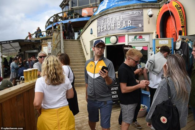 Festival-goers at the Boadmasters were left at a loose end after the festival was cancelled and now restaurants and cafes have been hit by a major power cut