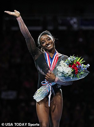 Olympian Simone Biles became the first woman in nearly 70 years to win six US senior women's all-around gymnastics titles