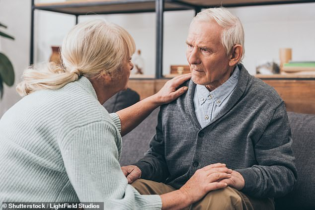 Professor Alistair Burnsstressed that a combination of 'simple lifestyle interventions' at any age would dramatically reduce a person's risk (stock image)
