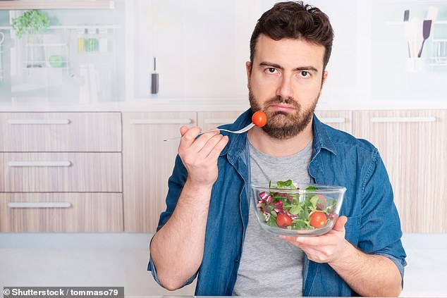 New research suggests why young men are so bad at getting their 'five-a-day' (stock)