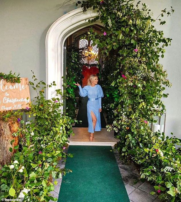 Conor's sister Erin shared a snap as she posed next to a huge floral display within the exclusive Luttrellstown Castle near Dublin