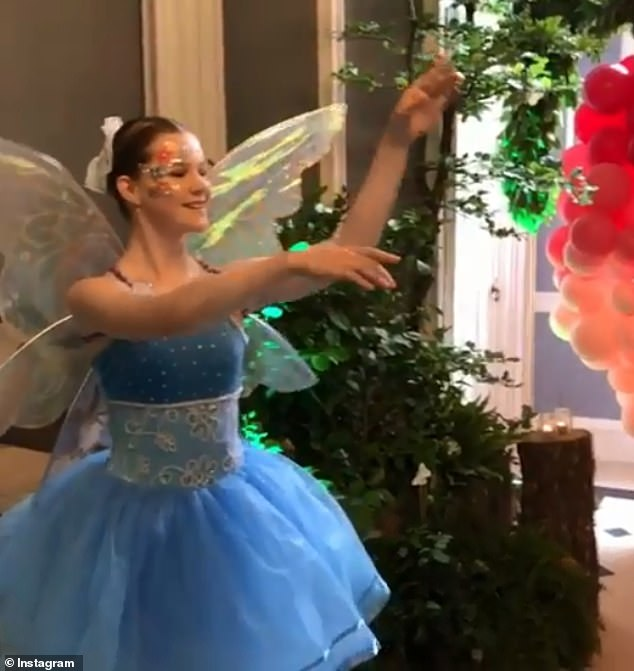 Guests shared pictures on social media of entertainers dressed as fairies danced at the over-the-top party