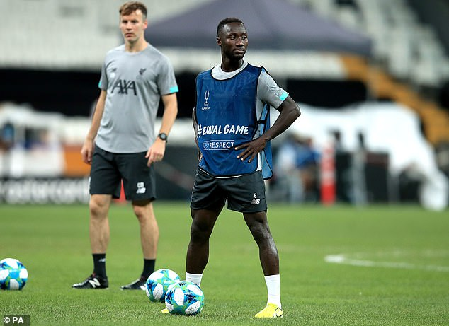 Keita departed training at the Vodafone Park in Istanbul with one of the club's fitness coaches