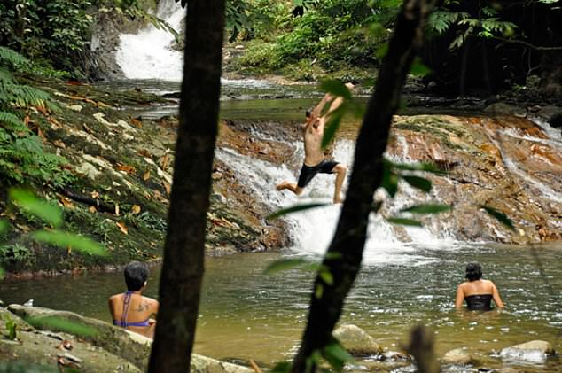 The waterfall at the eco-resort in Malaysia where missing Nora Quoirin's body was found