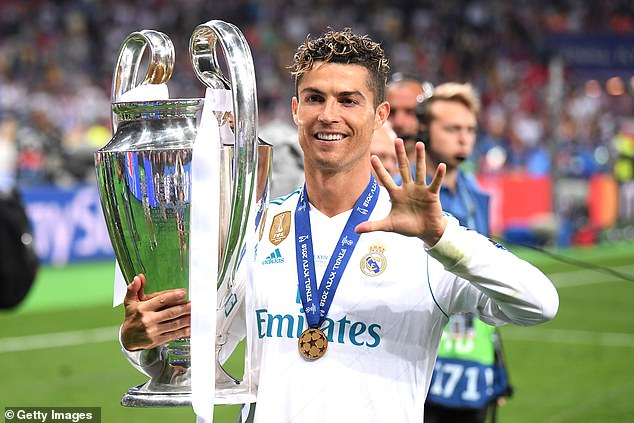 Ronaldo helped Real Madrid to beat Liverpool in the 2018 Champions League final in Kiev