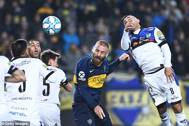 The Italian midfielder found the net with a bullet header at Estadio Alberto J. Armando