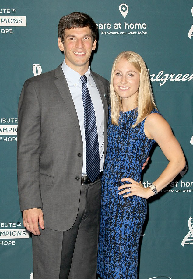 His form of the condition, called idiopathic multicentric, kills around a third of patients within five years, according to figures (it is unclear who he is pictured with at the 4th Annual RARE Tribute to Champions of Hope Gala in September 2015)