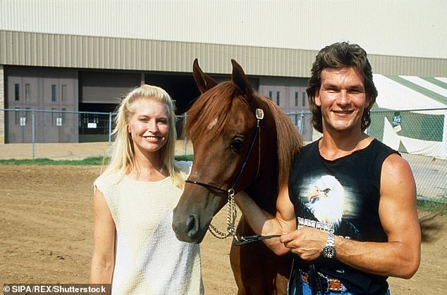 Long term love: Lisa and Patrick were married from 1975 until Patrick's death in 2009. The pair are pictured in 1986