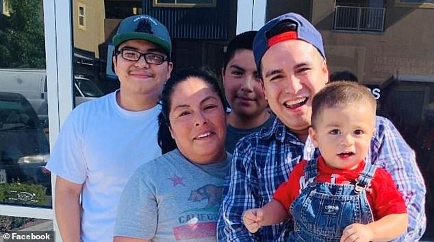 José Bello (second from right) was unable to post a $50,000 bail bond and spent nearly three months in jail after ICE arrested the undocumented immigrant in May, just two days after he slammed the agency and the government for its anti-immigration policies