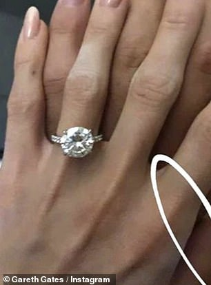 Gemstone: Gareth allegedly asked Faye to return the £ 30,000 ring he presented to her during her New Year holiday in New York