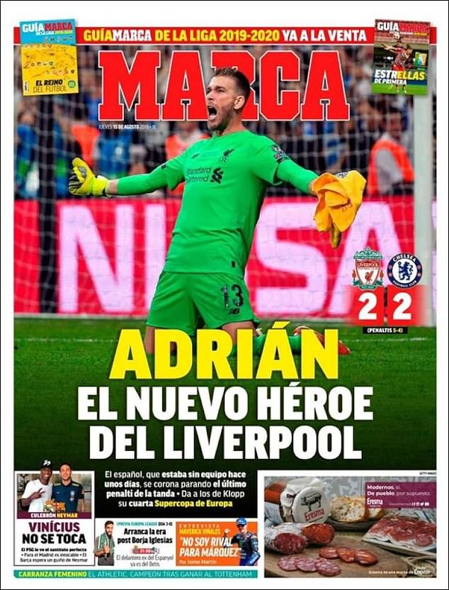 Liverpool news: Spanish newspapers go mad for Adrian after