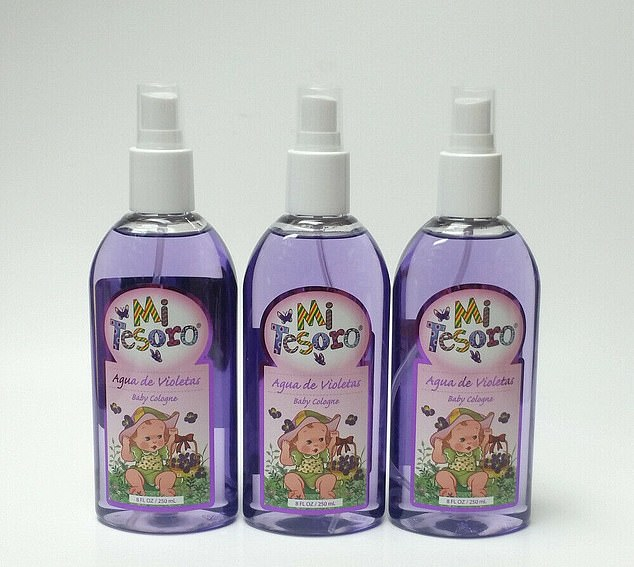 A boy of nearly 12 years old had noticed breast hypertrophy since the age of four and had been exposed to Crusellas Violet Water Cologne (pictured) since childhood.