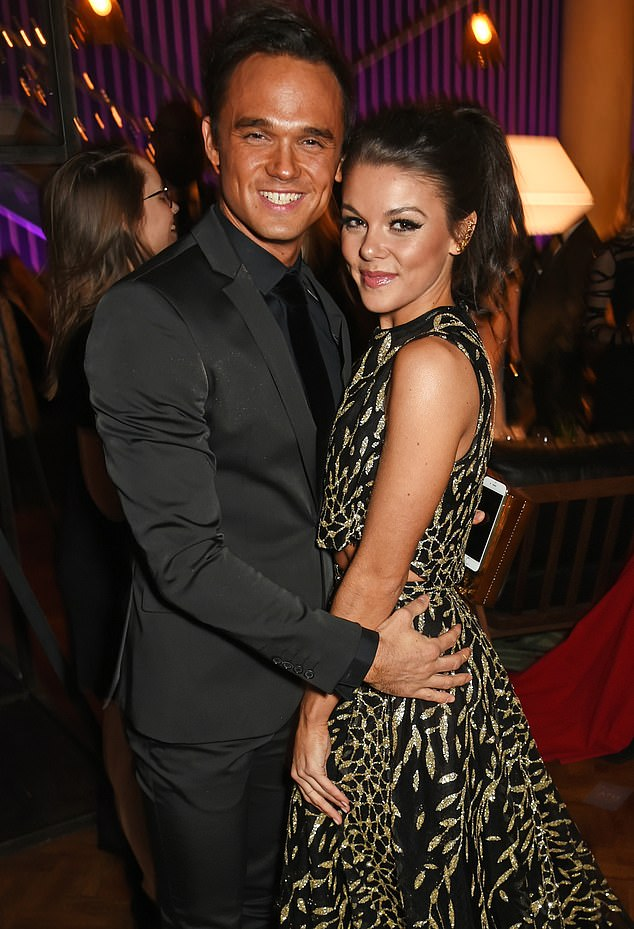 Breaking Point: Gareth Gates and Faye Brookes reportedly split up after a series of jealous clashes with ex-wife Suzanne Mole took their toll on the engaged couple (picture 2017)