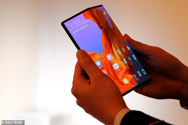 A new market for folding phones is being dominated by two companies - Samsung and now Chinese tech giant, Huawei. Huawei says it's now shipping 100,000 of its folding Mate X phones every month
