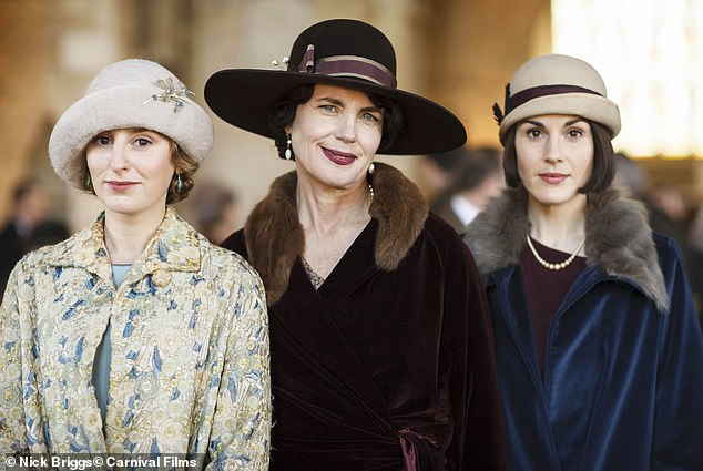 Exciting: Laura has been playing Lady Edith Crawley since Downton Abbey's first series in 2010 and will repeat her role in the much awaited film adaptation next month