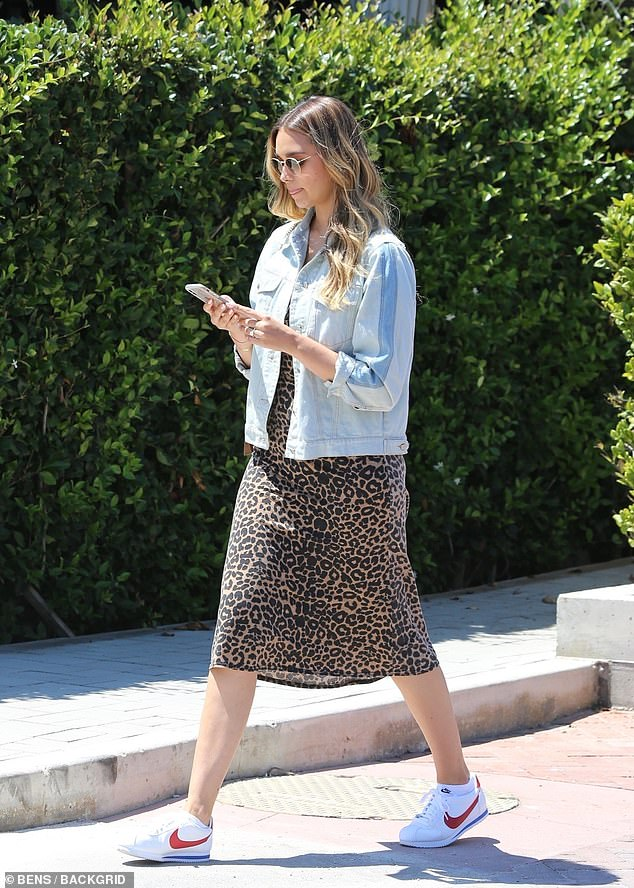 Me time: April Love Geary, 24, was spotted getting her hair done at hot spot CIE Salon at the Country Mart in Malibu