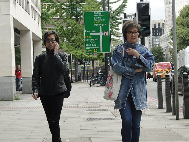 Ms Chaing (left) has been cleared of repeatedly slapping her mother (right) when she was refused £200 cash at the family's £5.4m Chelsea home