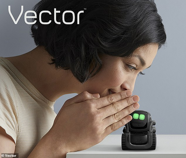 In addition, the researchers say that they expect the impacts of talking to smart assistants and artificial intelligences to increase ¿ and affect even adults ¿ as these become more anthropomorphic in their form. Pictured, Anki's expressive robot, Vector