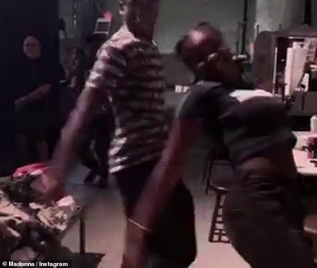 Working it:The other video posted on Madonna's birthday teased a bit of the choreography from the upcoming tour, which looks positively electric